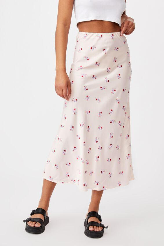All Day Slip Skirt, ARABELLA FLORAL SOFT PINK