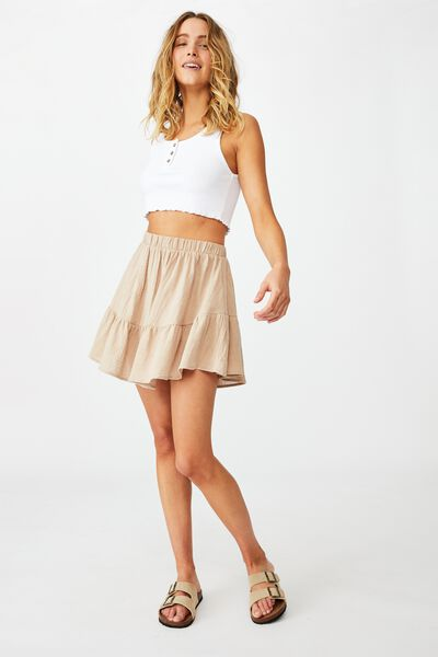 Spin Me Around Circle Skirt, LATTE