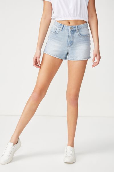 High Rise Flashback Denim Short 2, LIGHT SHADE BLUE