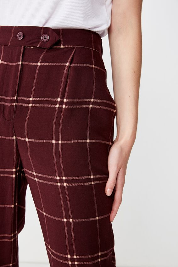 Amy Tapered Pant, KARLA CHECK FIG