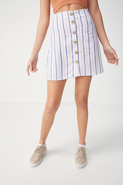 Woven Medina Mini Skirt, VIVVY STRIPE TUSCANY