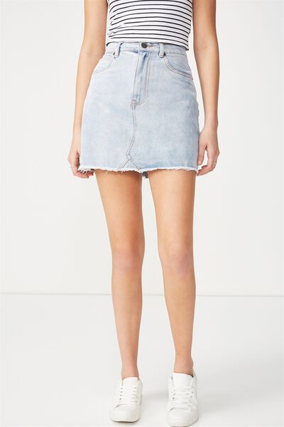The Re-Made Mini Denim Skirt, SOFT FADED BLUE