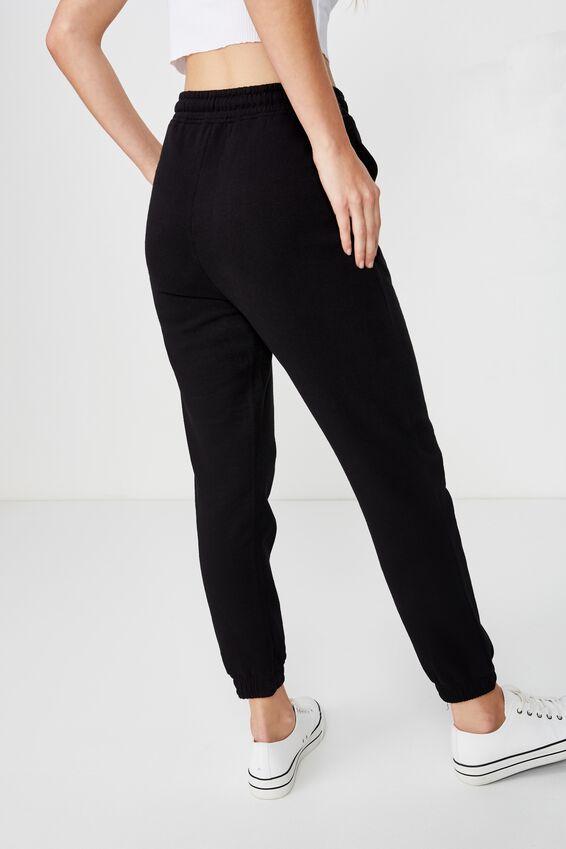 Kimmy High Waist Trackpant, BLACK