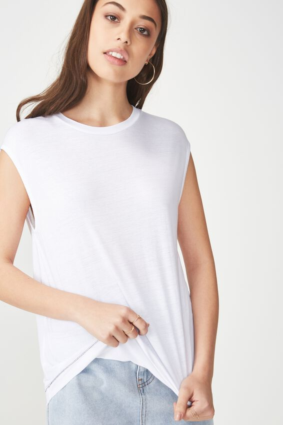 The Relaxed Tank, WHITE