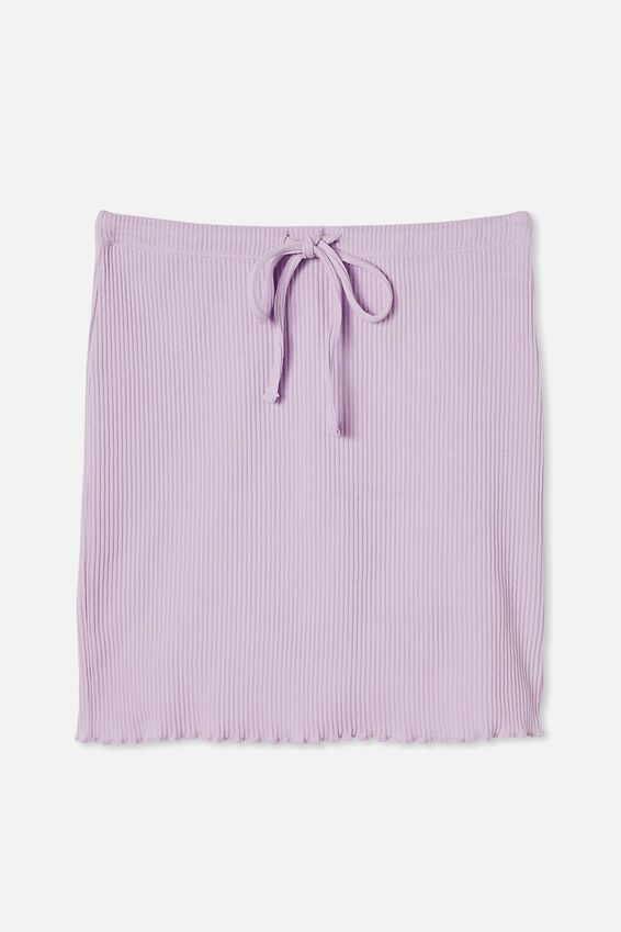 Streamline Ribbed Mini Skirt, FROSTY LILAC