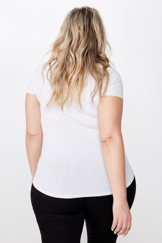Curve Girlfriend Tee, SILVER MARLE