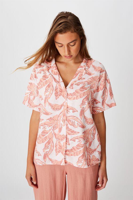 Oversize Resort Shirt, ISLA TROPICAL CREOLE PINK