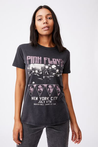 Classic Pink Floyd T Shirt, LCN PER PINK FLOYD NYC POSTER/BLACK