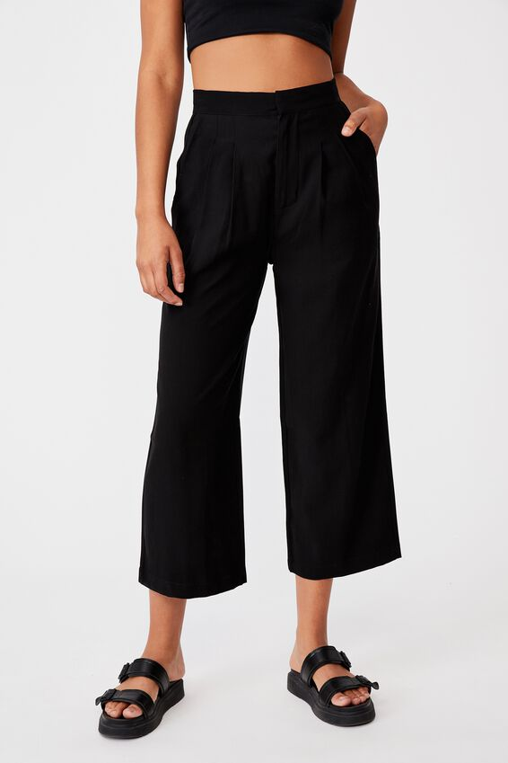 Soft Suiting Pant, BLACK