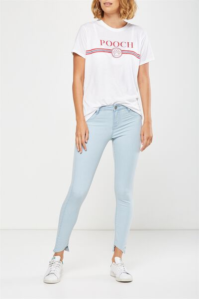 Mid Rise Jegging, SUMMER CLOUD BLUE TRASH HEM
