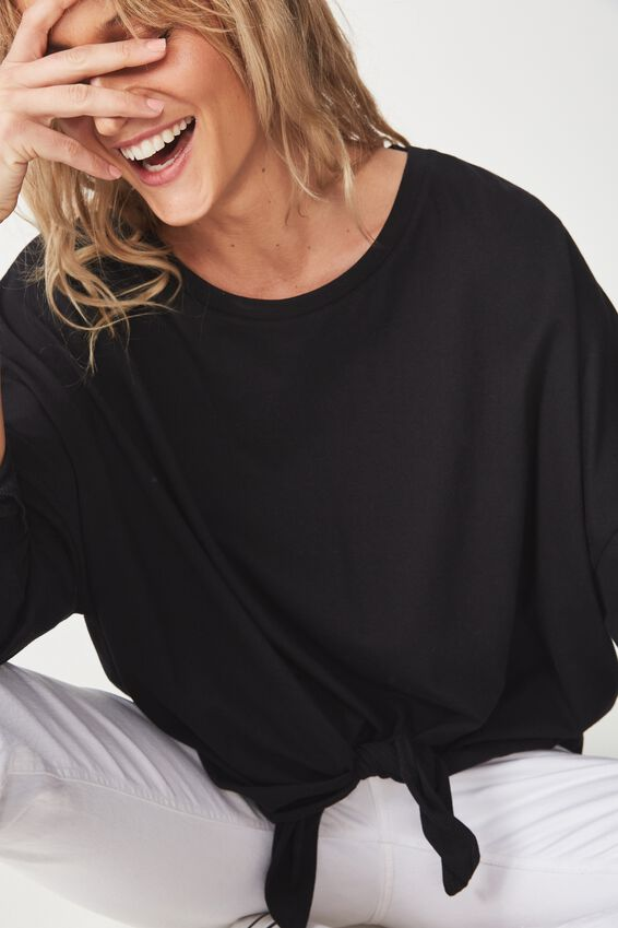 Shelby Oversized Top, BLACK