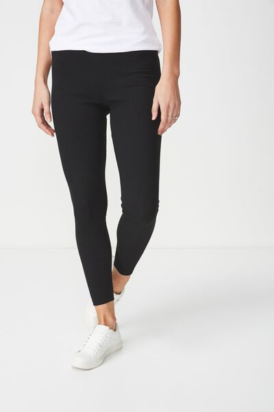 Dylan Long Leggings, BLACK RIB
