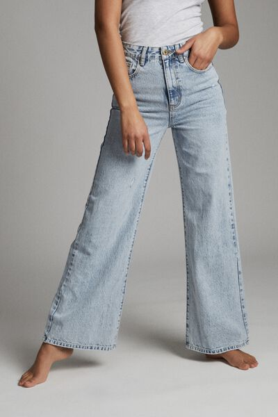 Long Wide Leg Jean, AVALON BLUE