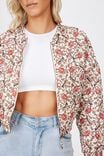 Quilted Bomber, OLIVIA MINI PAISLEY MARSHMALLOW