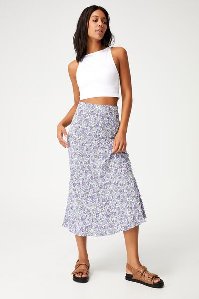 All Day Slip Skirt, MAGGIE DITSY LILAC BLOOM