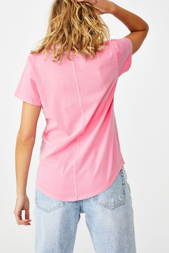 The One Crew Tee, WASHED RASPBERRY