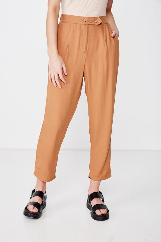 Ava Tapered Pant, LION TEXTURED