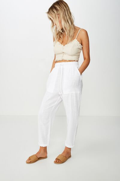 Beach Resort Pant, WHITE