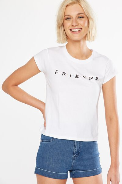 Tbar Friends Graphic Tee, LCN FRIENDS/WHITE