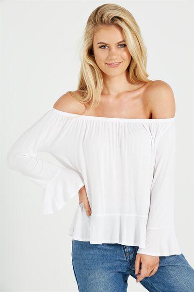 Pegi Off The Shoulder Top, WHITE