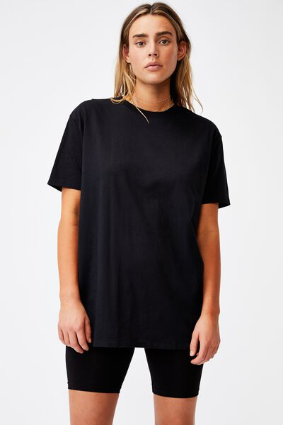 The Oversized Dad Tee, BLACK