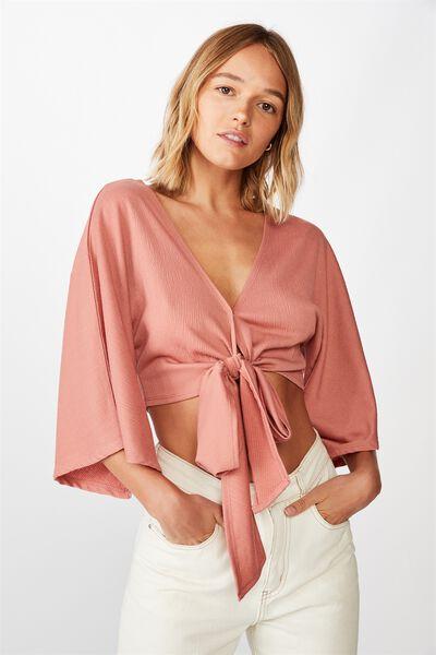 Jude Kimono Sleeve Top, CANYON ROSE