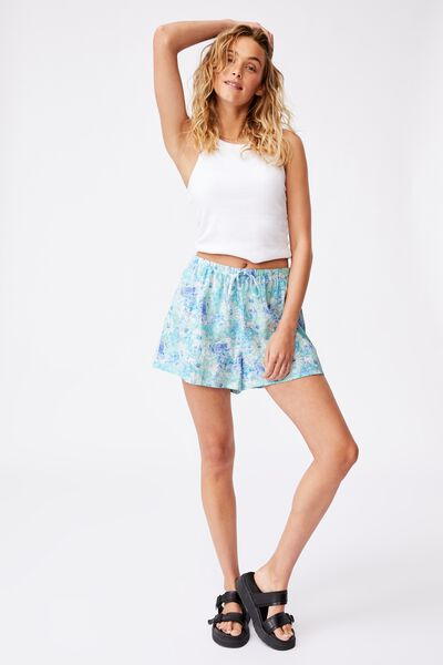 Cali Pull On Short, SUMMER BLOOMS BLUES