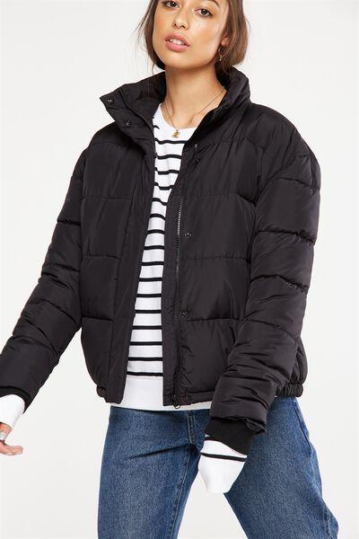 Harriet Puffer Jacket, BLACK