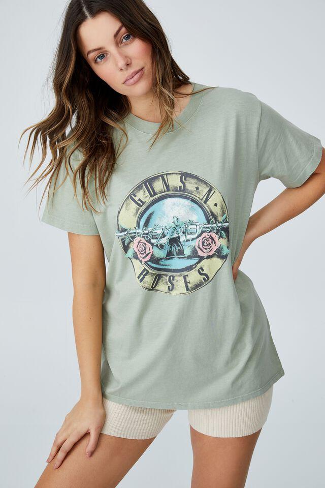 Classic Guns N Roses T Shirt, LCN BR GUNS N ROSES SEAL/SAGE