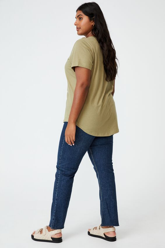 Curve The One Crew Tee, SOFT MOSS