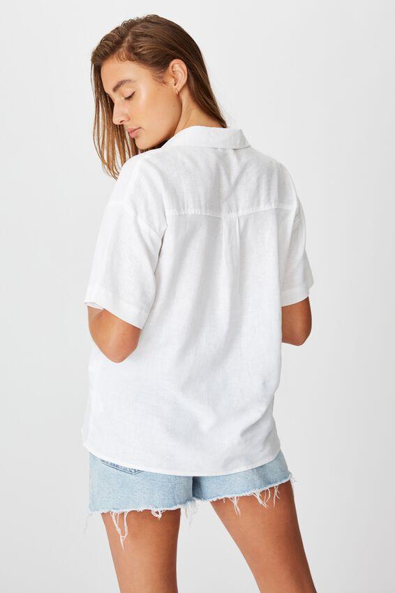 Oversize Resort Shirt, WHITE