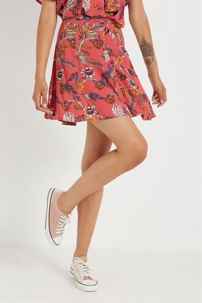 Wv Sally Flippy Skirt, MIMI DUSTY RASPBERRY