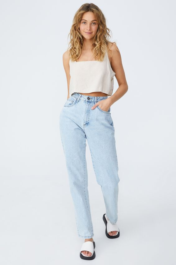 Day Dreamer Cropped Shell Top Petite, FAWN