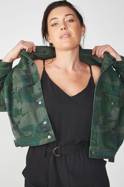 Oversized Military Jacket, CAMO