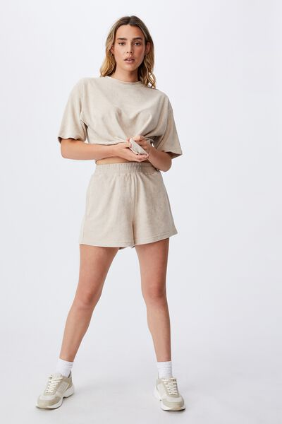 Terry Towelling Short, LATTE