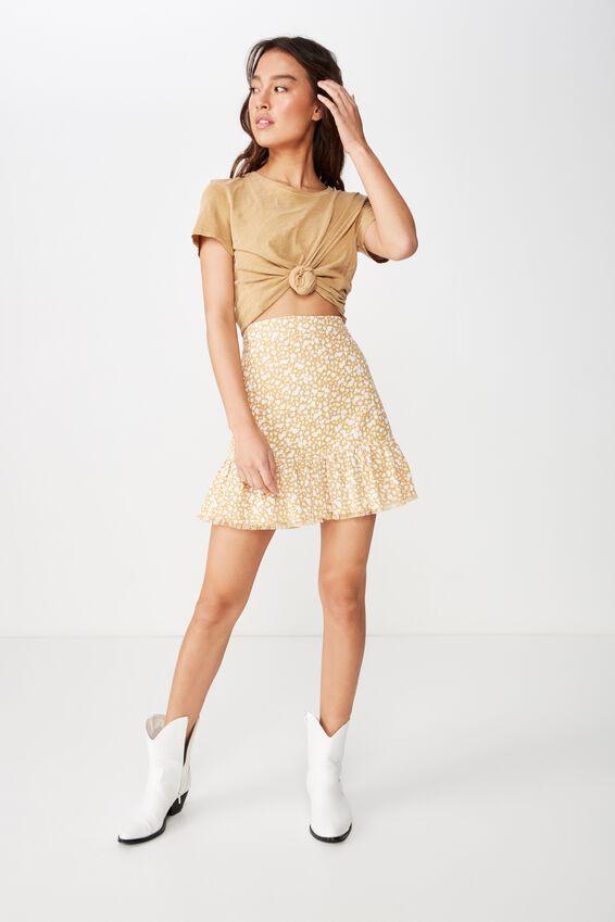 Woven Jordana Mini Skirt, HAVANA DITSY TAFFY