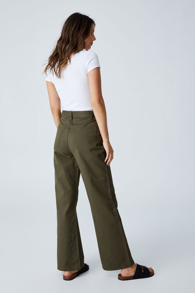 Parker Long Straight Pant, DUSTY OLIVE