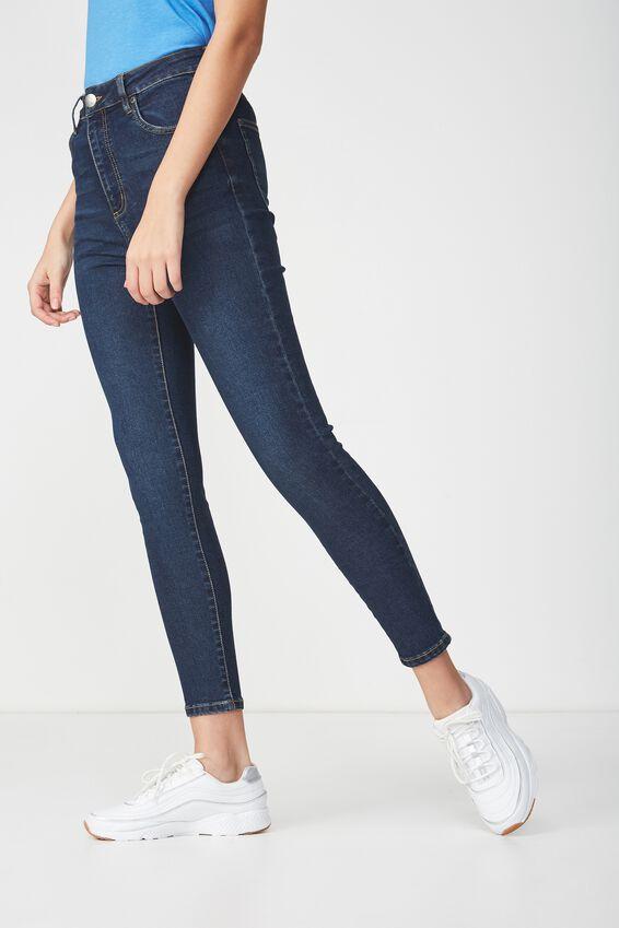 High Rise Grazer Skinny Jean, DEEP BLUE