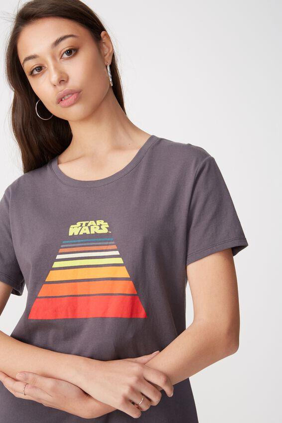 Star Wars Graphic T Shirt, LCN STAR WARS LINE LOGO/EBONY