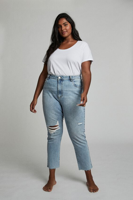 Curve Taylor Mom Jean, AIRY S BLUE RIP