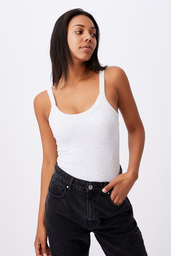 The Everyday Low Back Bodysuit, SILVER MARLE