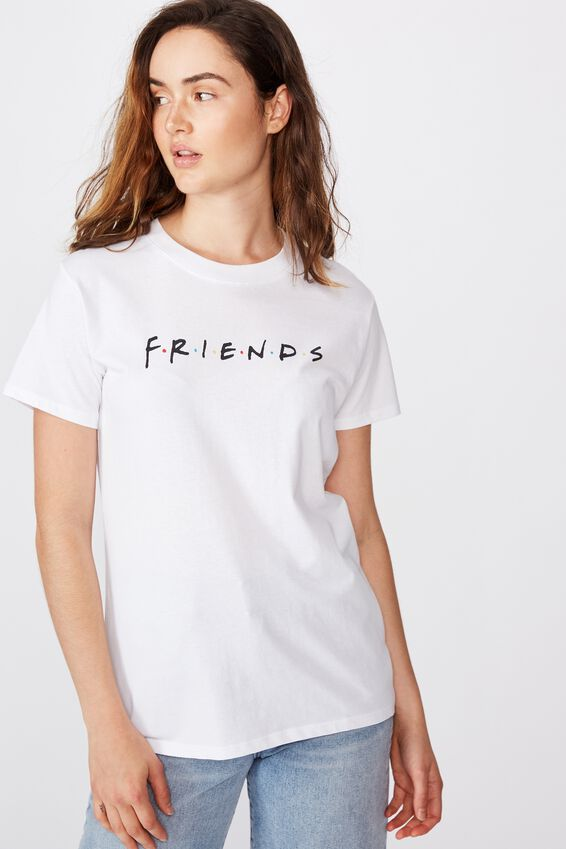 Classic Friends Logo T Shirt, LCN WB FRIENDS LOGO/WHITE