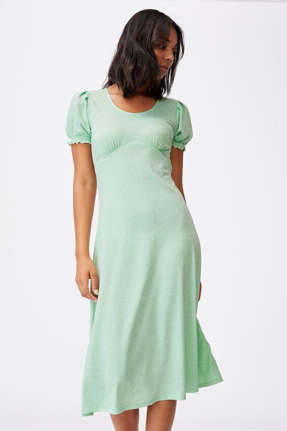 Elina Short Sleeve Midi Dress, BELLA DITSY SPRING MINT
