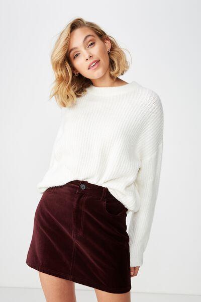 33efba36860 Woven Velvet Mini Skirt