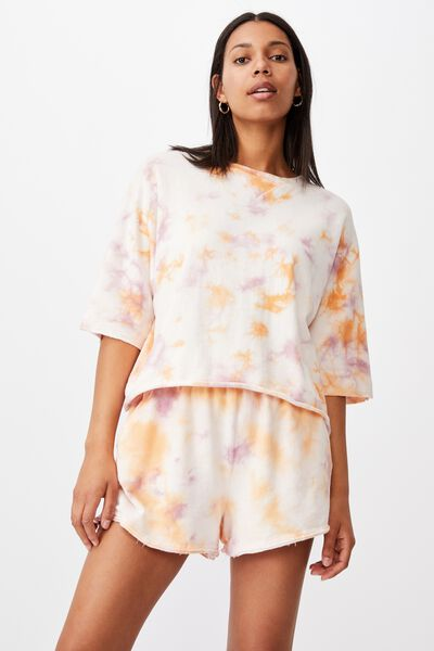 The Easy Short Sleeve Crew, ICY APRICOT TIE DYE