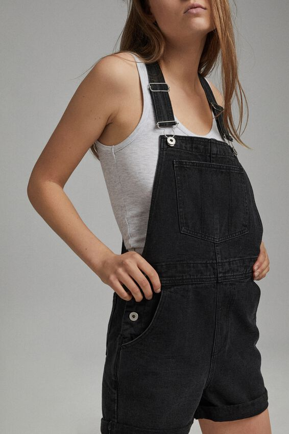 Denim Overall, WASHED MIDNIGHT BLACK