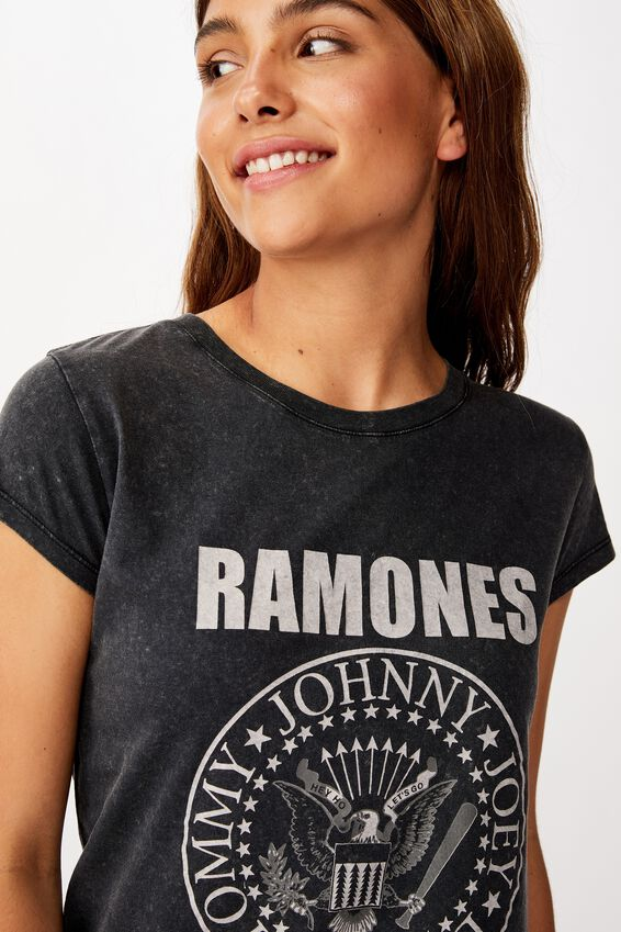 Essential Band T Shirt, LCN MT RAMONES SEAL/BLACK