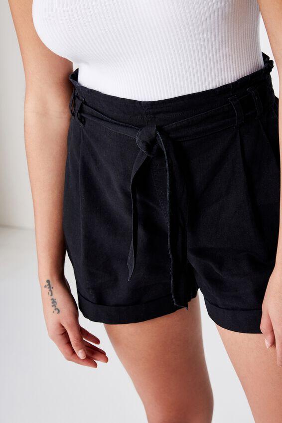 Riley High Waist Short, BLACK