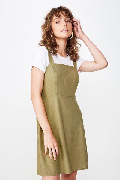 Woven Krissy Dress, LIGHT OLIVE- LWS