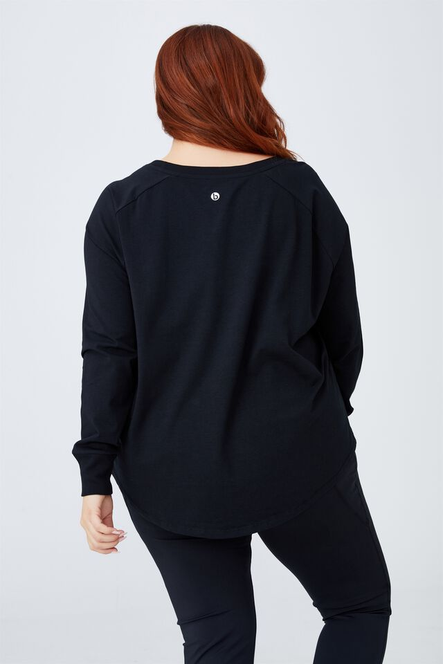 Curve Active Long Sleeve Top, BLACK